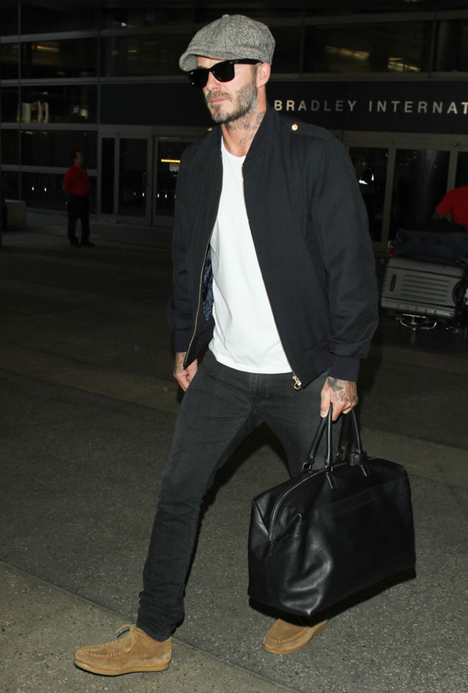 David Beckham black white estiloso