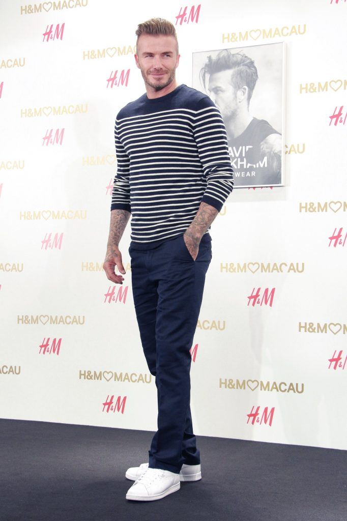 David Beckham casual elegante