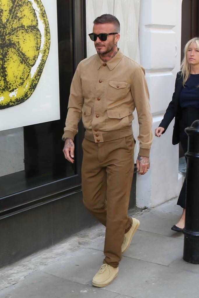 David Beckham monocromático terroso
