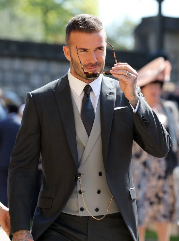 David beckham casamento morning dress