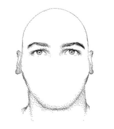 Rosto-masculino-hexagonal-com-base-reta