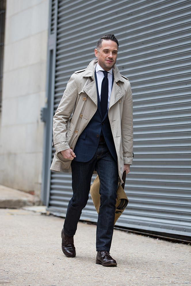 Trench coat men style