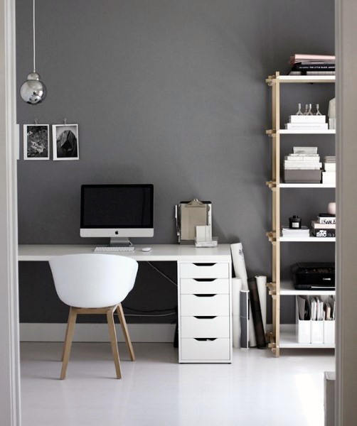 Home Office cinza minimal